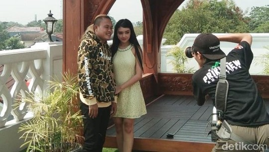 Kemesraan Sule dan Suci, Model di Video Klip Gara-gara Dia