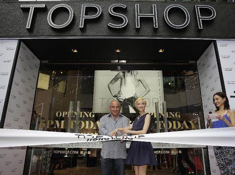 Philip Green saat pembukaan Tophsop di Hong Kong pada 2013.