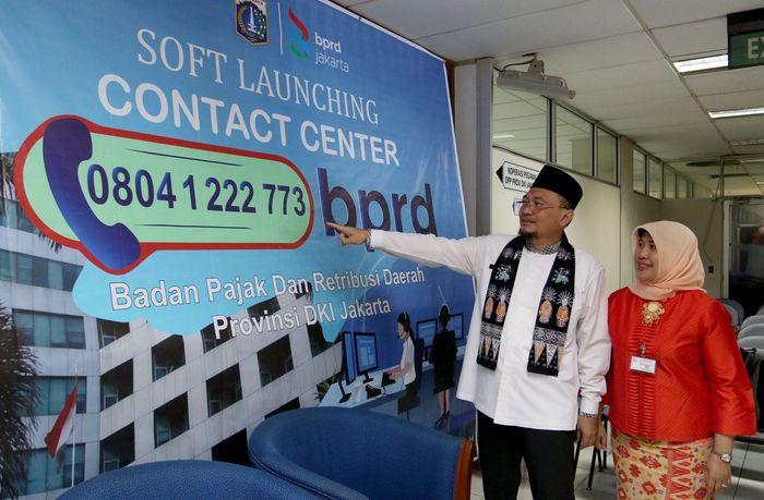 Kepala Badan Pajak dan Retribusi Daerah BPRD Provinsi DKI Jakarta Faisal Syafruddin secara resmi membuka dan memperkenalkan kontak center BPRD di Jakarta. Foto: dok. BPRD