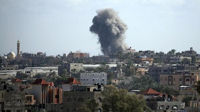 Potret serangan Israel di utara Gaza (Foto: REUTERS/Mohammed Salem)