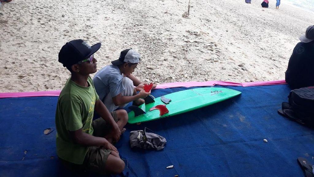 Sempat Terkendala Ombak di Gunungkidul, Surfer Kecil ini ke Semifinal