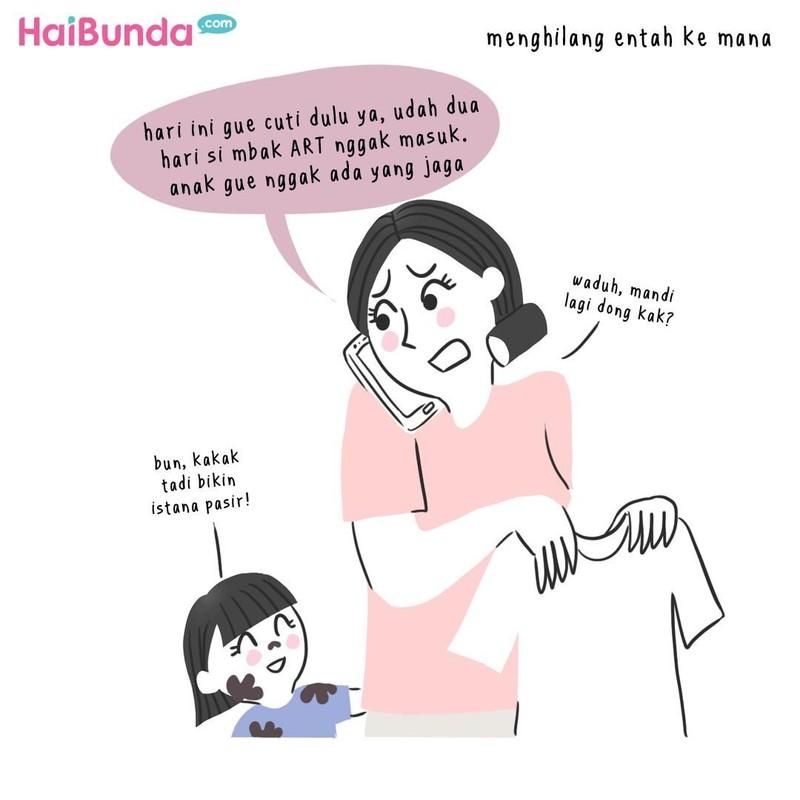 Beginilah balada asisten rumah tangga (ART) di keluarga Bunda di komik ini. Balada si mbak ART apa yang terjadi di keluarga Bunda?