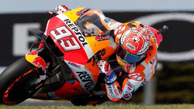 Marc Marquez tetap tampil cepat di sesi kualifikasi MotoGP Australia 2018.