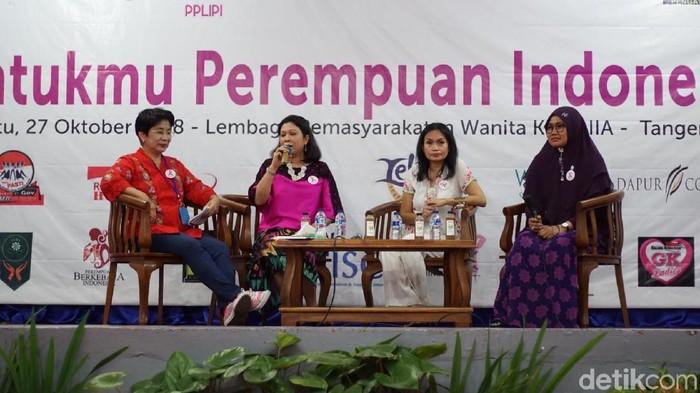 Edukasi kanker payudara di Lapas Perempuan IIA Tangerang. Foto: Annissa/detikHealth