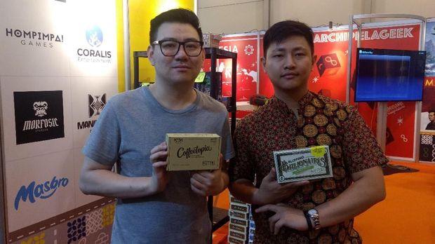 Nata Chen dan Desyanto dari Masbro Game Studio, desainer game Coffetopia.