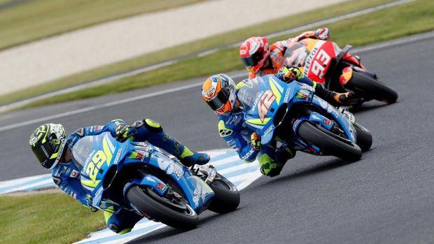 Andrea Iannone sempat menggeser Marc Marquez di puncak peringkat kualifikasi MotoGP Australia 2018.