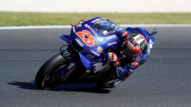 Maverick VInales ketika menjalani MotoGP Australia 2018.