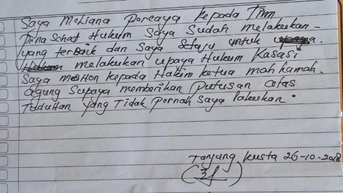 Foto: Surat Meliana (ist.)