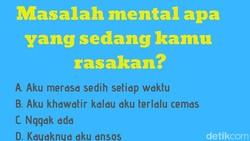 Ingin tahu ada gangguan mental pada diri kita? Yuk coba jawab tes kepribadian ini dan jumlahkan poinnya. Itu mengungkapkan ada masalah tidak dengan mentalmu.