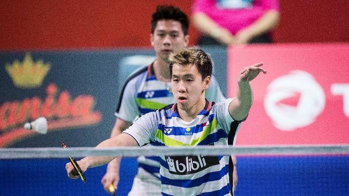 Indonesia punya dua wakil di semifinal ganda putra Fuzhou China Terbuka 2018. (Foto: Ritzau Scanpix/Claus Fiske via REUTERS)