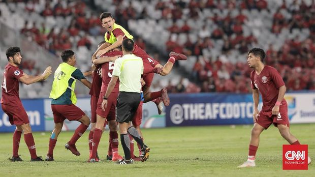Qatar lolos ke semifinal Piala Asia U-19 2018.
