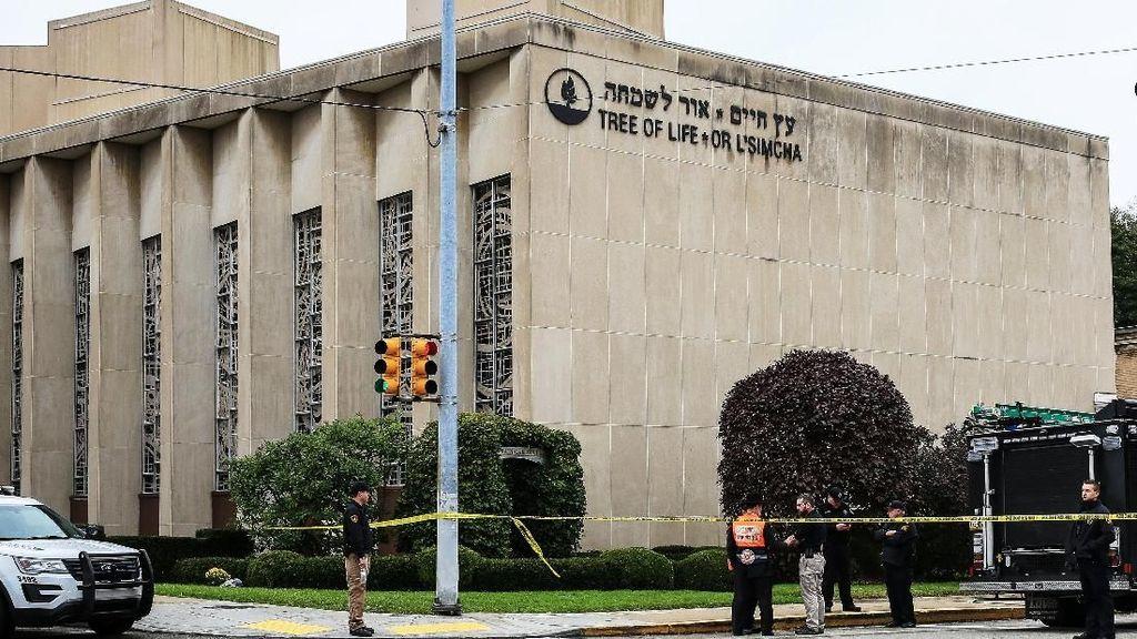 Suasana Mencekam Sinagog di Pittsburgh Usai Penembakan Brutal