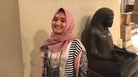 Fatin menikmati wisata di Mesir dengan mengunjungi Egyptian Museum di Kairo. Dok. Fatin