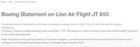 Pernyataan Resmi dari Boeing