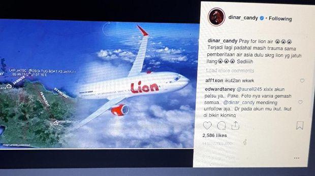 Lion Air Jatuh, Selebriti Indonesia Berduka