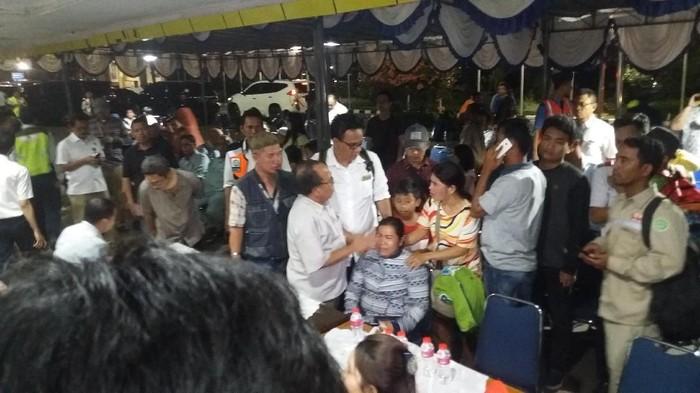 Dewi Lumbantoruan di posko Lion Air JT 610 Bandara Halim Perdanakusuma. (Arief Ikhsanudin/detikcom)