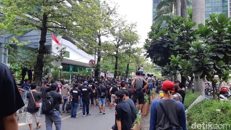 Demo yang dikoordinir oleh Gabungan Aksi Roda Dua (Garda) ini masih menuntut hal yang sama dengan ujuk rasa sebelumnya. (Foto: detikINET/Virgina Maulita Putri)