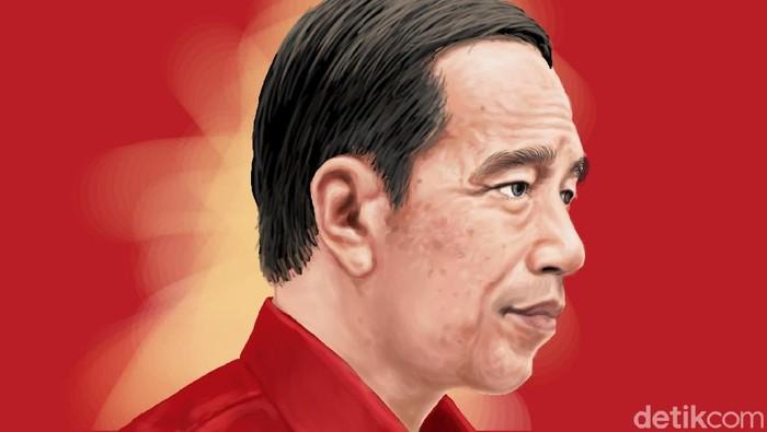 close up Jokowi