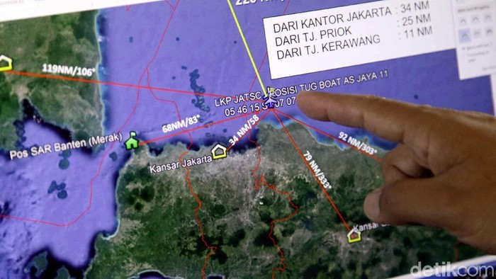 Pesawat Lion Air JT 610 rute Jakarta-Pangkalpinang hilang kontak. (Pradita Utama/detikcom)