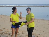 Kevin dan Patricia setelah memenangkan Unlock The Checkpoints challenge di Bali