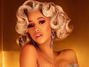 Cardi B Tampil Bling-bling dengan Rambut Berhiaskan Berlian