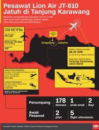 Kronologi Jatuhnya Lion Air JT-610 di Tanjung Karawang