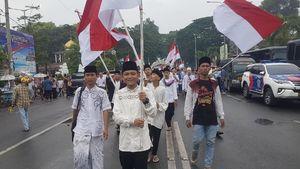 Gembiranya Pemuda Banten Kirab Merah Putih Keliling Kota