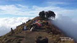 Viral Video Pendaki Gunung Dugem Massal Saat Kemping di Lombok