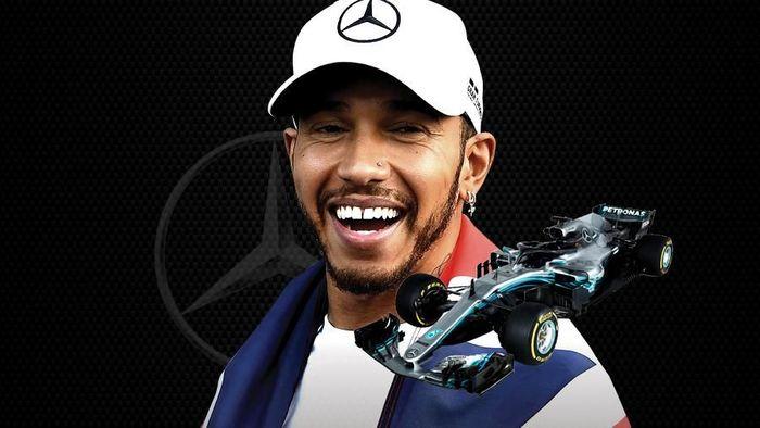 Lewis Hamilton juara dunia F1 2018 (Infografis Detiksport)