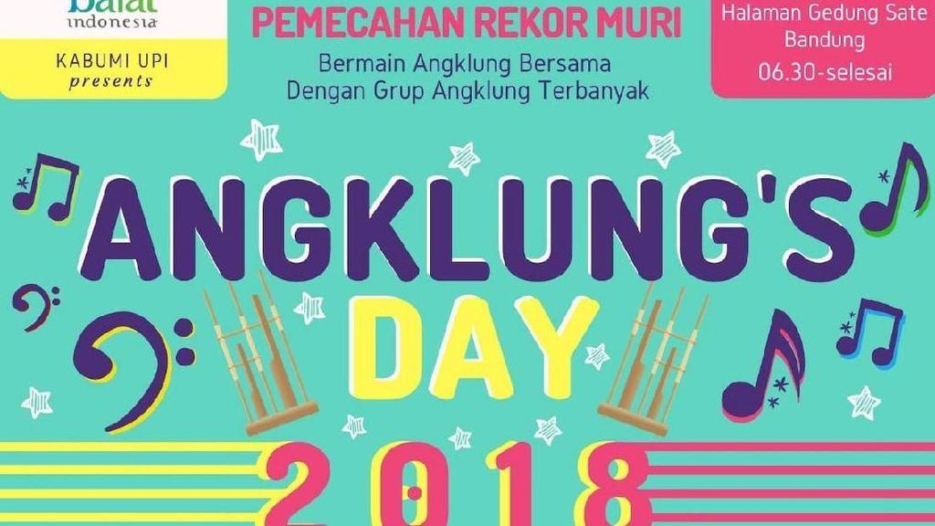 Wisata ke Bandung? Jangan Lewatkan Keseruan Angklungs Day 2018