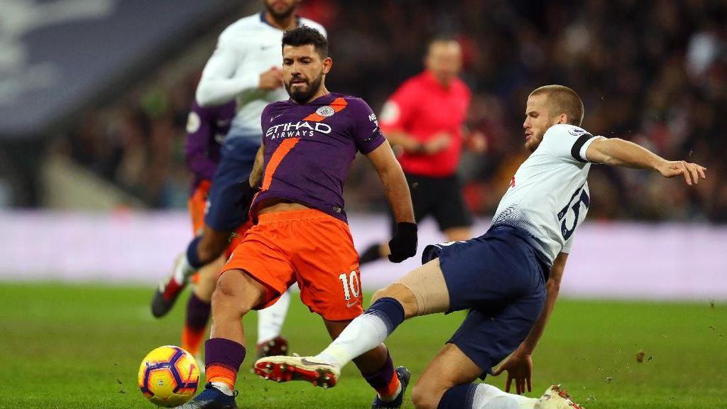 City Menangi Duel Ketat Lawan Tottenham di Wembley yang Gundul