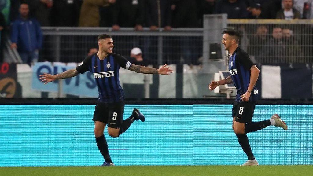 Hasil Lazio vs Inter Milan: Icardi Dua Gol, Nerazzurri Menang 3-0