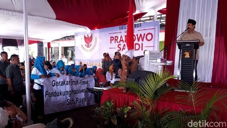 Ini Pidato Lengkap Prabowo yang Singgung Tampang Boyolali