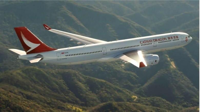 Ilustrasi pesawat Cathay Dragon