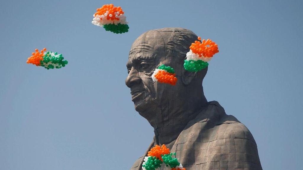 Dengan Pengamanan Ketat, India Resmikan Patung Tertinggi di Dunia