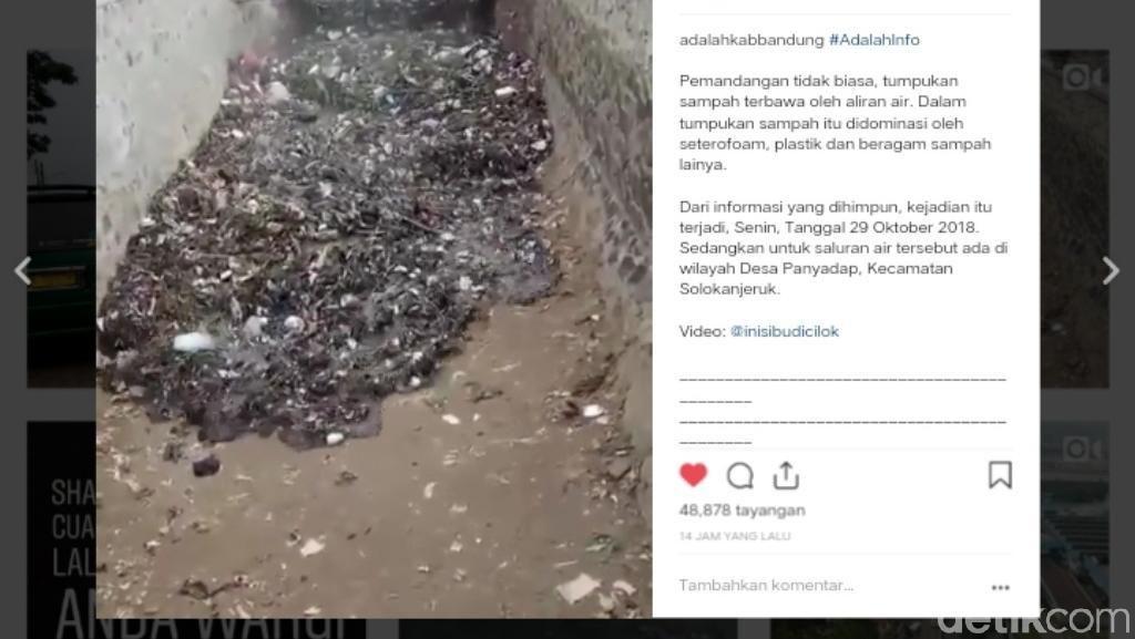 Video: Ngeri! Ada Tsunami Sampah di Sungai Kabupaten Bandung