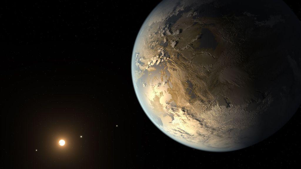 Kepler-186f, exoplanet pertama yang ditemukan di zona layak huni terhadap bintangnya. Foto: NASA