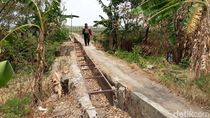 Talang Saluran Air Rusak, Puluhan Hektare Sawah di Brebes Terdampak