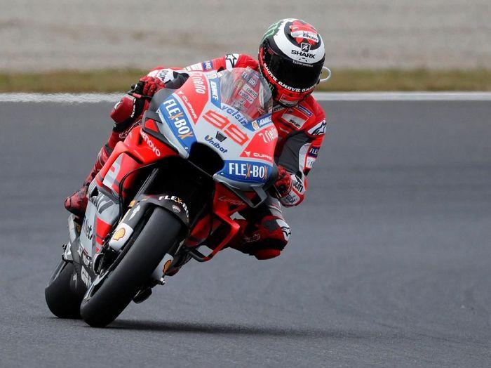Jorge Lorenzo ingin hasil terbaik di balapan terakhir untuk Ducati. (Foto: REUTERS/Toru Hanai)