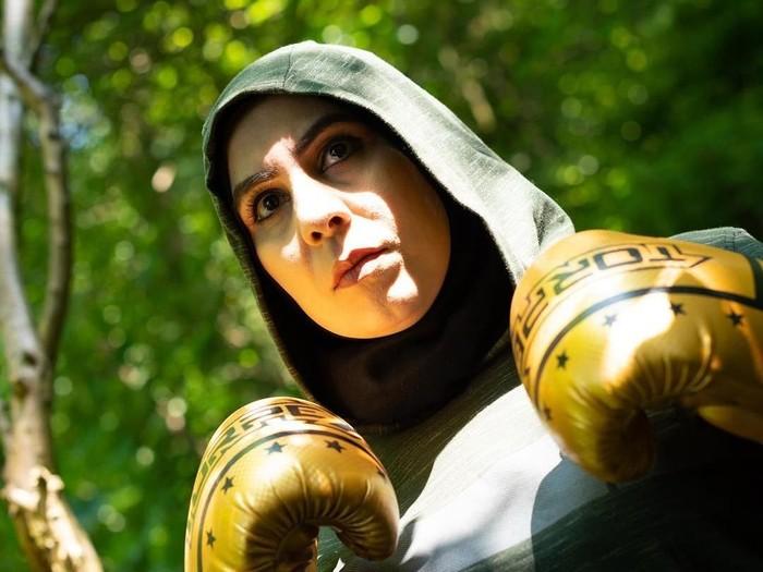 Pelatih tinju berhijab di Inggris. Foto: Istimewa