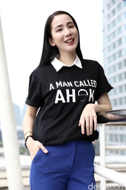 Jill Gladys saat berkunjung ke kantor detikcom, Kapten Tendean, Jakarta Selatan belum lama ini.