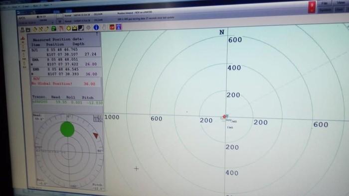 Koordinat sinyal ping black box Lion Air JT 610 (dok BPPT)