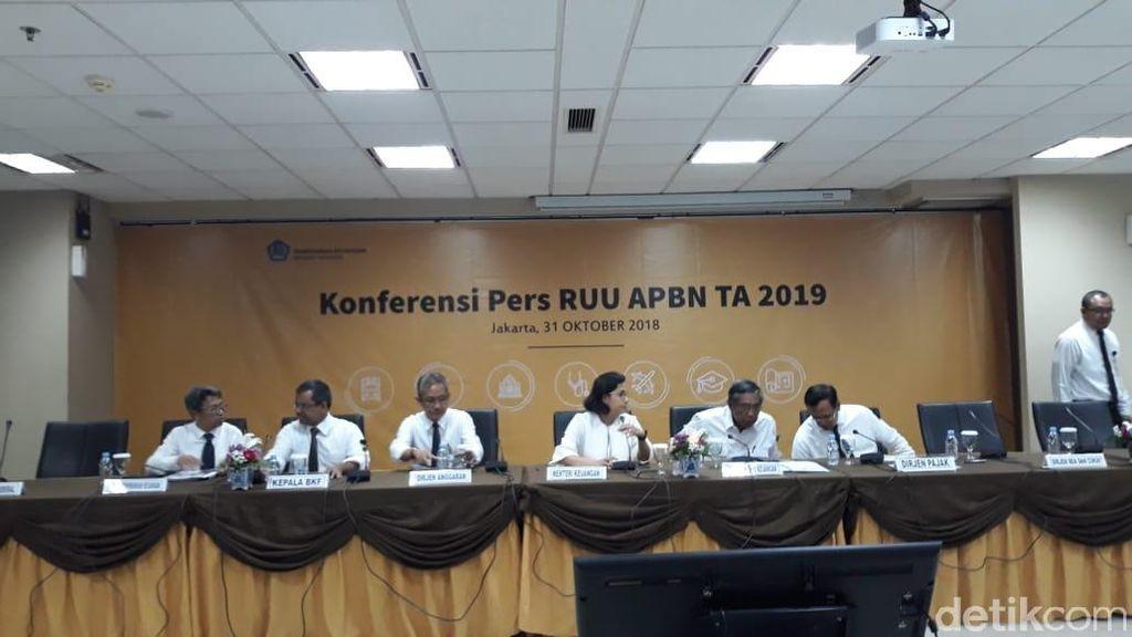 Pakai Busana Putih dan Pita Hitam, Sri Mulyani Paparkan APBN 2019