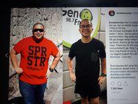 Transformasi Kemal dari 120 kg hingga 64,2 kg.