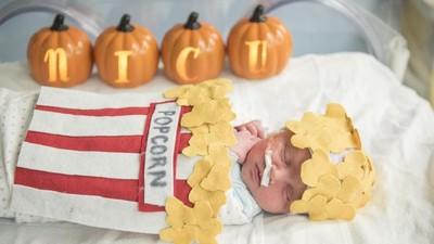 Menggemaskan, Saat Bayi-bayi NICU Dipakaikan Kostum Halloween