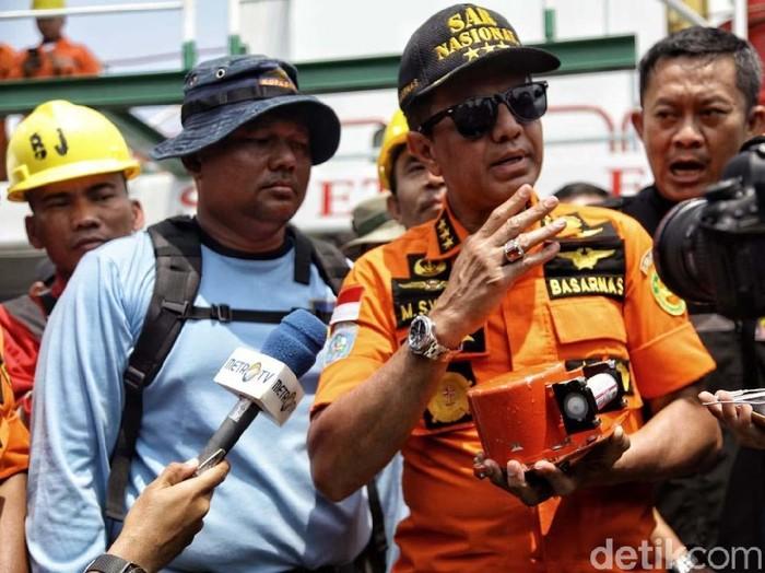Kepala Basarnas Marsdya M Syaugi dimutasi menjadi pati TNI AU karena memasuki masa pensiun. (Pradita Utama/detikcom)