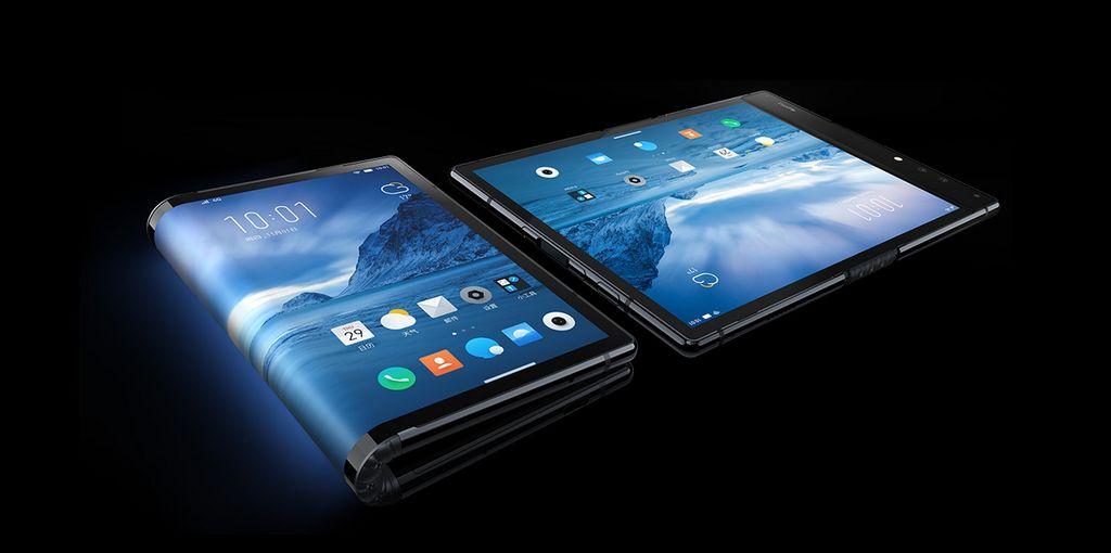 Flexpai adalah ponsel layar lipat yang disebut-sebut pertama di dunia besutan vendor kurang dikenal asal China bernama Royole. Saat direntangkan, ponsel ini berubah menjadi tablet. Foto: www.royole.com/flexpai