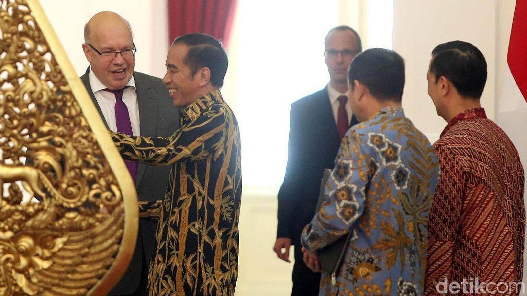 Menteri Ekonomi Jerman Temui Jokowi di Istana Merdeka