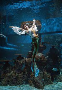 Putri Duyung Berenang di Aquarium Raksasa di Dalam Mal, Mau Lihat?