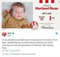 Ini Dia 'Baby Harland' yang Dapat Rp 161 Juta dari KFC!